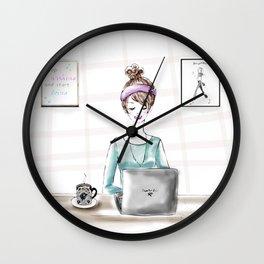 Busy Blogger Wall Clock