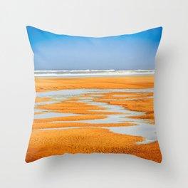 Colorful Beach Throw Pillow