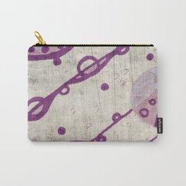 lilac vintage pattern Carry-All Pouch