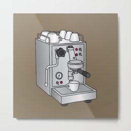 Espresso machine filter-holder Barista Metal Print