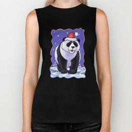 Panda Bear Christmas Biker Tank