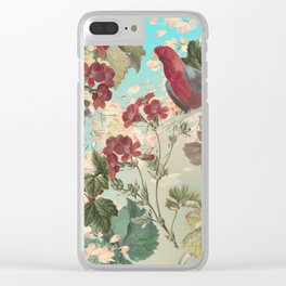 Parrots and Flora Clear iPhone Case