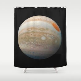 Jupiter Marble from Junocam Shower Curtain
