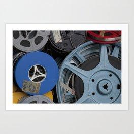 Vintage Film Reels 2 Art Print