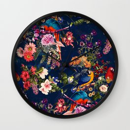 FLORAL AND BIRDS XII Wall Clock