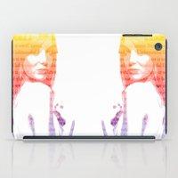 emma stone iPad Cases featuring Emma Stone, Typography  by fghdjsk
