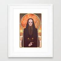 heymonster Framed Art Prints featuring Reverend Mother by heymonster