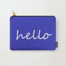 Hello blue Carry-All Pouch