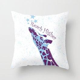 Giraffe Reach Higher Throw Pillow