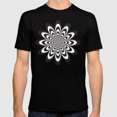 Infinite Flower MEDIUM Black Mens Fitted Tee