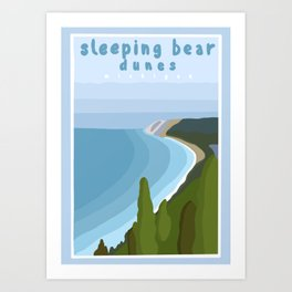 Sleeping bear dunes Michigan  Art Print