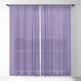 Solid Ultra Violet pantone Sheer Curtain