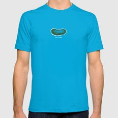 That's a Pickle! Mens Fitted Tee Teal SMALL
