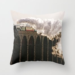 60163 Tornado Steaming over Ribblehead Viaduct Throw Pillow
