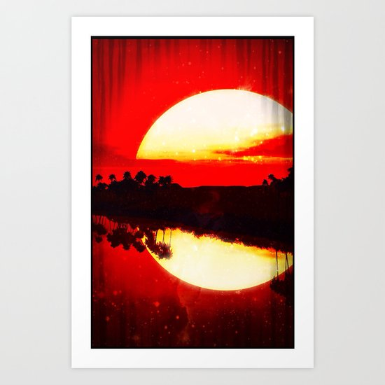 Red Sunset - for iphone Art Print