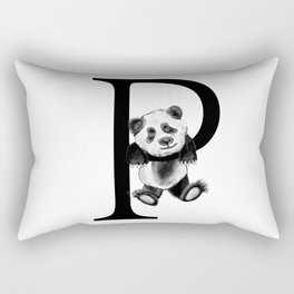 Letter Panda Rectangular Pillow