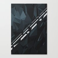 milky way Canvas Prints featuring Milky Way by Elvijs Pūce