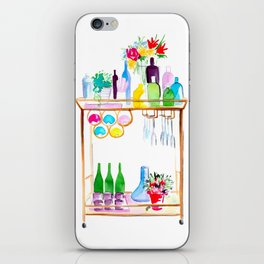 Watercolour Bar Cart iPhone Skin