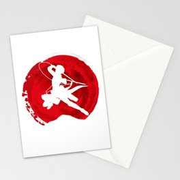 Red Levi akerman Stationery Cards