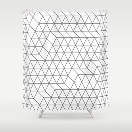 Cityscape Geo Shower Curtain