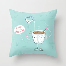 Coffee Buzz Throw Pillow