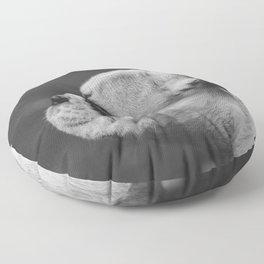 Wistful monochrome Frenchie Floor Pillow
