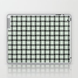 Small Pastel Green Weave Laptop & iPad Skin