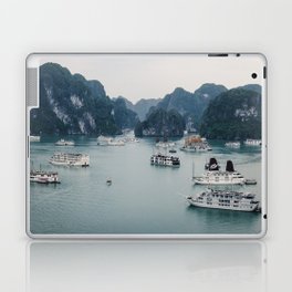 The Boats and Limestone Cliffs of Halong Bay, Vietnam Laptop & iPad Skin
