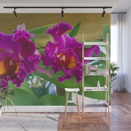 Frilly Orchids Wall Mural