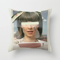 Tears In The Typing Pool | Collage Throw Pillow