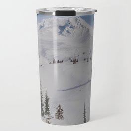 Snowy Mount Hood Travel Mug