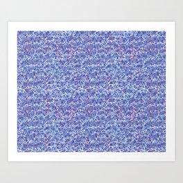 Cool blue abstract thread design Art Print