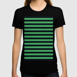 Green and Black Striped  Background T-shirt