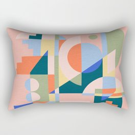 Abstract cityscape in funny geometric shapes Rectangular Pillow