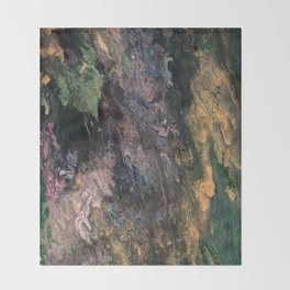 Old Tree's Spring Emerald Throw Blanket