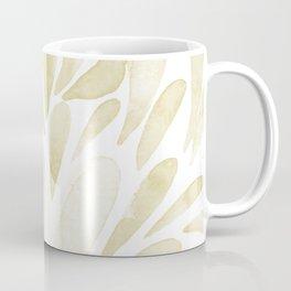 Watercolor artistic drops - yellow Coffee Mug