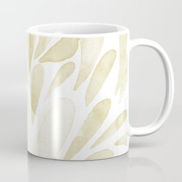Watercolor artistic drops - yellow Coffee Mug