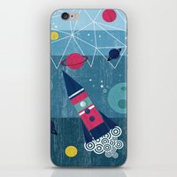 spaceship iPhone & iPod Skins featuring Spaceship by Kakel