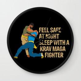 Krav Maga fighters Israeli martial arts Wall Clock
