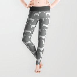 Silver Dachshund Pattern Leggings