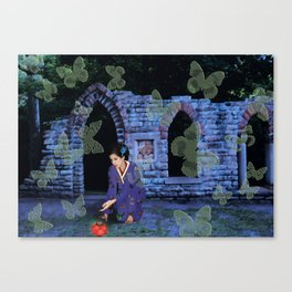 Midnight Offering at the Butterfly Temple Canvas Print