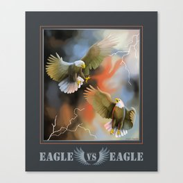 Eagle VS Eagle Canvas Print