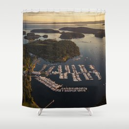 Roche Harbor Shower Curtain