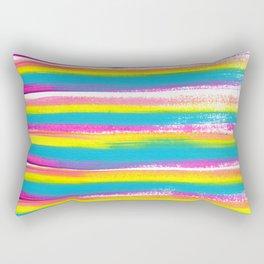 Pastel Rainbow Stripes Rectangular Pillow