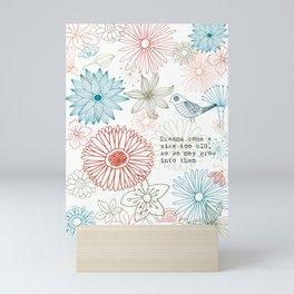 Floral dreams Mini Art Print