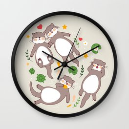 Significant otters Wall Clock