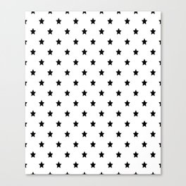 Black and white Star Pattern Canvas Print