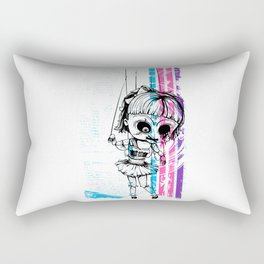 Deathly Chucky's Girl - Creepy Doll Rectangular Pillow