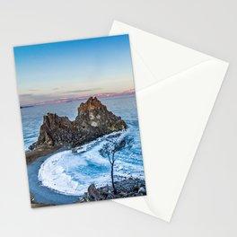 Shaman Rock on Olkhon Island, Baikal Stationery Cards