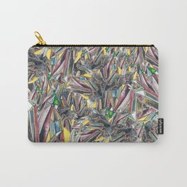 Rainbow Metallic Crystals Carry-All Pouch